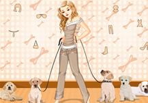 Vístete para pasear a los cachorros