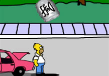 Homer caza Duff