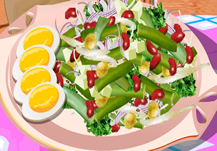 Cocinar ensalada de judías verdes